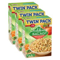 (3 Pack) Suddenly Salad Ranch & Bacon Pasta Salad Dry Meals Twin Pack 15 Oz