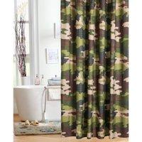 Mainstays Kids Camo Shower Curtain
