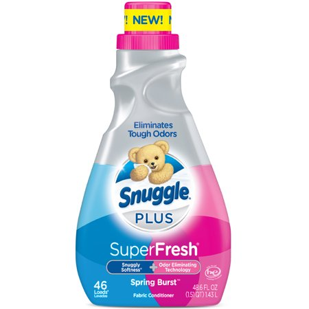 Fabric Softener (Snuggle Plus Super Fresh Liquid Fabric Softener, Spring Burst, 48.6 Fluid Ounces, 46 Loads )
