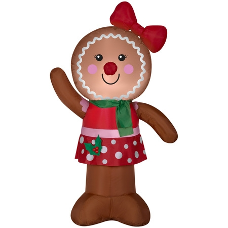 Airblown Inflatable Gingerbread Girl 4ft tall by Gemmy Industries](Girl Inflates)