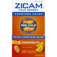 Zicam Cold Remedy Rapidmelts, Citrus Flavor, 25 Quick-Dissolve Tablets