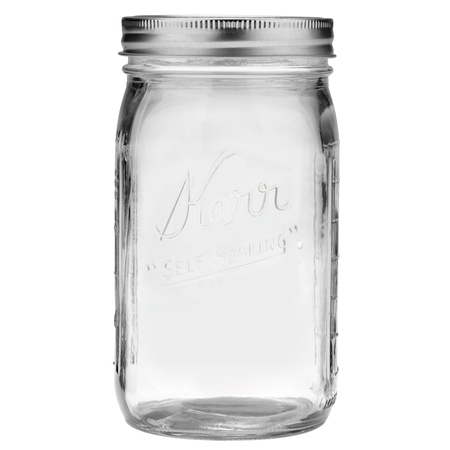 Kerr Glass Mason Jar w/Lid & Band, Wide Mouth, 32 Ounces, 12 Count](Buy Mason Jars In Bulk)