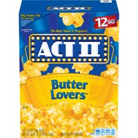 ACT II Butter Lovers Popcorn, 2.75 Oz., 12 Count