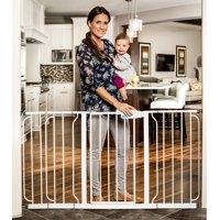 Regalo Extra WideSpan 56-Inch Walk Through Baby Gate, Includes 4 Pack of Wall Mounts