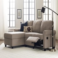 Serta Copenhagen Reclining Sectional with Left Storage Chaise - Beige