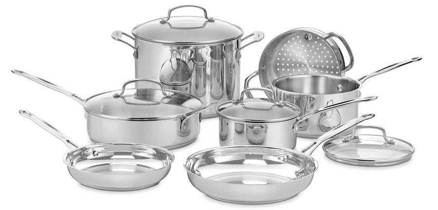 Cuisinart Anodized Cookware - Cuisinart Chef's Classic Stainless Steel Cookware Set