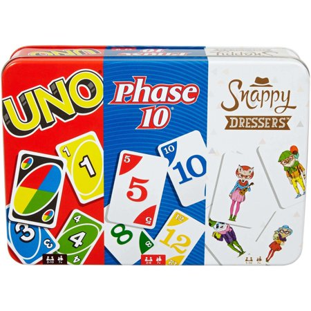 Collectors Tin Robot - UNO, Phase 10, and Snappy Dressers Collector Tin