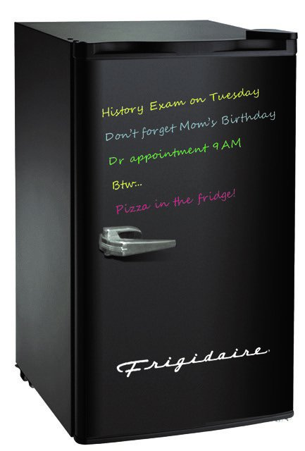 Frigidaire 3.2 Cu Ft Retro Eraser Board Mini Fridge, - Smooth Black Refrigerator