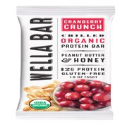 Wella Ba Organic Cranberry Crunch Protein Bar, 1.9 Oz.