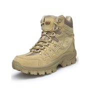 Men s Outdoor Military Tactical Ankle Boots Hiking Combat Boots High Top  Shoes Duty Work Boots with 950940b1707