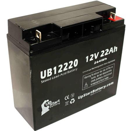 Power Tech Agm Batteries (SEARS CRAFTSMAN DIEHARD PORTABLE POWER 1150 Battery Replacement -  UB12220 Universal Sealed Lead Acid Battery (12V, 22Ah, 22000mAh, T4 Terminal, AGM, SLA) )
