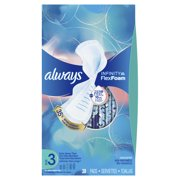 ALWAYS Infinity, Size 3, Extra Heavy Sanitary Pads with Wings, Unscented, 28 Count