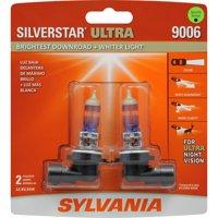 SYLVANIA 9006 SilverStar ULTRA Halogen Headlight Bulb, Pack of 2