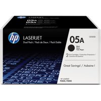 HP 05A (CE505D) Black Original LJ Toner Cartridges, 2 pack
