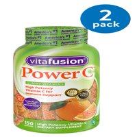 (2 Pack) Vitafusion Power C Gummy Vitamins, 150ct