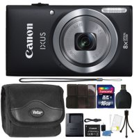 Canon IXUS 185 / ELPH 180 20MP 16x ZoomPlus Black Digital Camera with Top Accessory Bundle