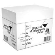 Georgia Pacific Standard Multipurpose Paper, 8 1/2 x 11, 92 Bright, White, 2500 Sheets/Carton