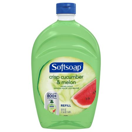 (2 pack) Softsoap Liquid Hand Soap Refill, Crisp Cucumber and Melon, 50 Oz - Softsoap Halloween Hand Soap