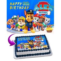 Paw Patrol Edible Cake Image Topper Personalized Icing Sugar Paper A4 Sheet Edible Frosting Photo Cake