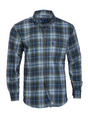 Men's Long Sleeve Plaid Flannel Shirt