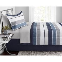 Mainstays Stripe Bed in a Bag Bedding