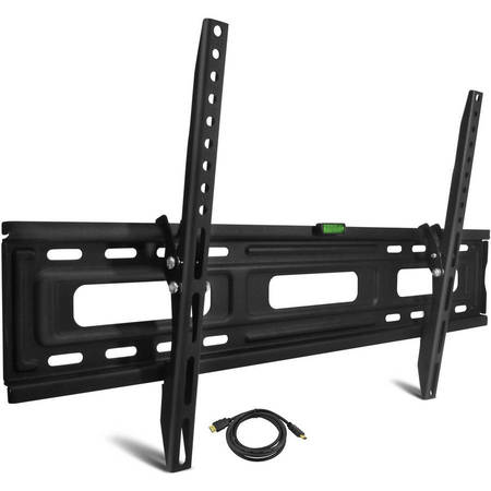 "Onn Tilting TV Wall Mount Kit for 24"" to 84"" TVs with HDMI Cable (ONA16TM013E)"
