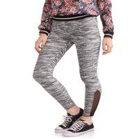 Juniors' Fashion Side Mesh Ankle Leggings (Prints & Solids)