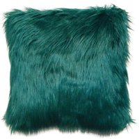 """Better Homes & Gardens Arctic Faux Fur Decorative Throw Pillow 16""""x16"""", Ivory"""