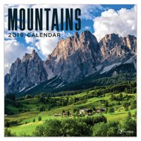 "2019 Mountains 12"" x 12"" January 2019-December 2019 Wall Calendar"