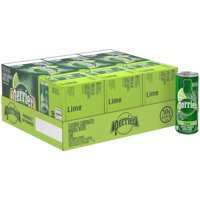 PERRIER Lime Flavored Carbonated Mineral Water 30-8.45 fl. oz. Cans