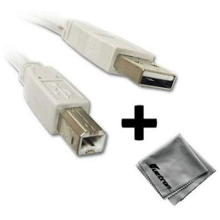 Hewlett Packard HP CB412A Printer Compatible 10ft White USB Cable A to B Plus...