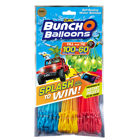 Water Balloon Gun (Bunch O Balloons Splash to Win Promotion with 100 Rapid-Filling Self-Sealing Water Balloons (3 Pack) by ZURU)