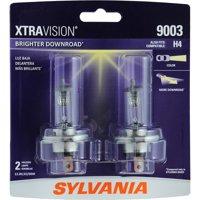 SYLVANIA 9003 XtraVision Halogen Headlight Bulb, Pack of 2