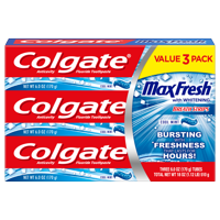 Colgate Max Fresh Toothpaste with Breath Strips, Cool Mint - 6.0 Ounce (3 Pack)