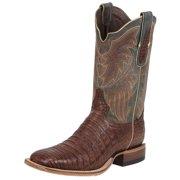 d50cf7b8b12 Tony Lama Western Boots Mens Vintage Leather Caiman Belly Cognac 6075
