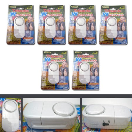 6 Pack Wireless Door And Window Entry Alarm Battery Home