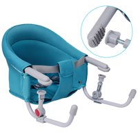Gymax Portable Folding Baby Hook On Clip On High Chair Booster Fast Table Seat Green