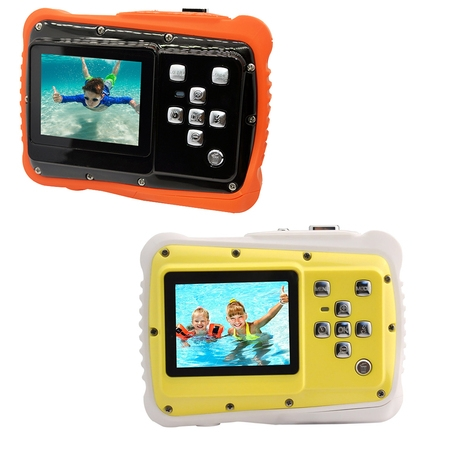 Waterproof Digital Camera for Kids,12MP Underwater Shockproof Action Camera & Video Camera with 2.0 Inch LCD Display, 4X Digital