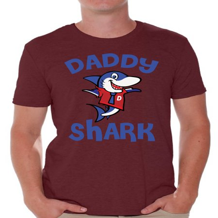 Awkward Styles Daddy Shark Tshirt for Men Shark Family T Shirt Matching Shark Shirts for Family Shark Gifts for Dad Shark Themed Party Outfit for Dad Shark Dad T-Shirt - Father Christmas Outfits For Mens