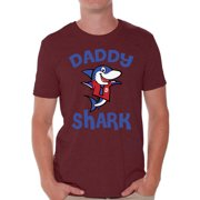 0321d9c6 Awkward Styles Daddy Shark Tshirt for Men Shark Family T Shirt Matching  Shark Shirts for Family