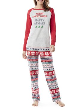 Product Image Family PJs Family Sleep Merry Everything Women s and Women s  Plus Fairsile Pajamas (2-Piece 0f54219bc