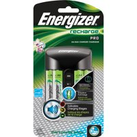 Energizer Recharge Pro AA & AAA Battery Charger, Includes 4 Rechargeable NiMH AA Batteries