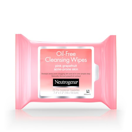 Neutrogena Oil-Free Facial Cleansing Wipes with Pink Grapefruit 25