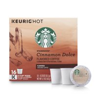 Starbucks Cinnamon Dolce Flavored Blonde Roast Single Cup Coffee for Keurig Brewers, 1 Box of 16 (16 Total K-Cup Pods)