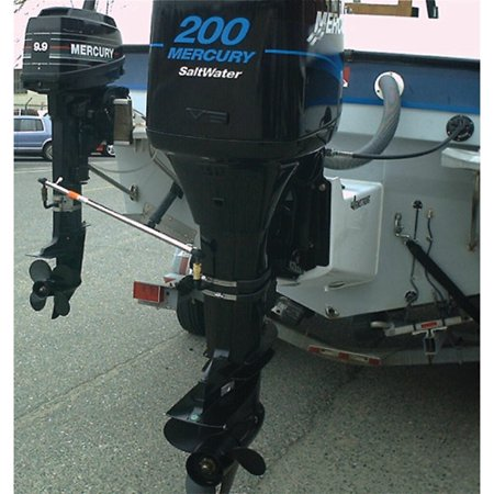 EZ-Steer Outboard to Outboard Auxiliary Motor Steering Kit (Includes Complete Bracket Assembly, Main Bracket Body, Quick Disconnect, S/S Bands and Rod -