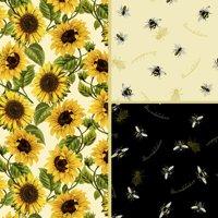David Textiles, Inc. Fabric Cut Cotton Follow The Sun Collection 1 Yd X 44 Inches