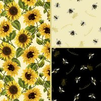 David Textiles Cotton Precut Fabric Follow The Sun Collection 1 Yd X 44 Inches