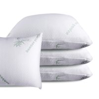 Queen Bamboo Memory Foam Bed Pillow, MADE IN USA 100% Certi-Pur Certified Helps Breathing and Reduces Snoring