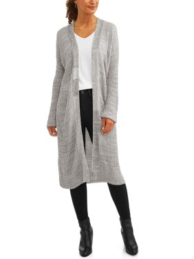 Women's Ribbed Duster Cardigan