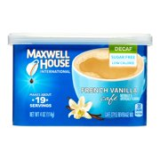 (3 Pack) Maxwell House International Decaf Sugar-Free French Vanilla Cafe Instant Coffee, 4 oz Canister